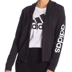 NEW Adidas Track Jacket Black White